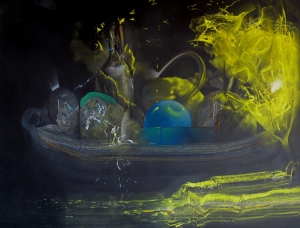 Still Life with Exploding Glass 2014, Tom Walker